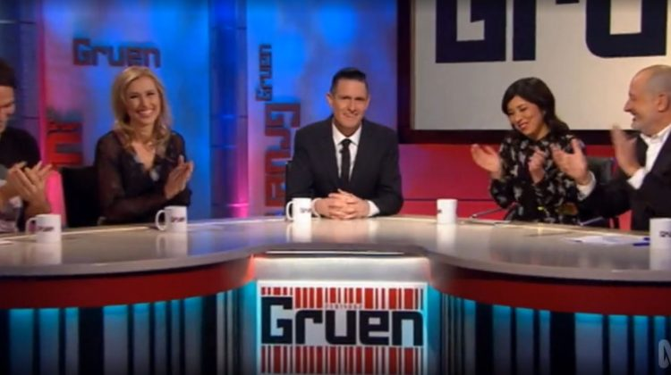 Source: ABC. Panellists (L-R): Todd Sampson, Lauren Fried, host Wil Anderson, Cam O'Keefe and Russel Howcroft.