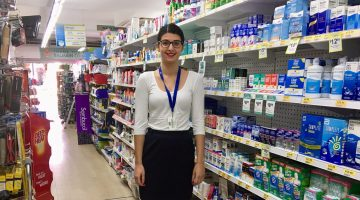 Chrysa in the pharmacy. Source: Supplied