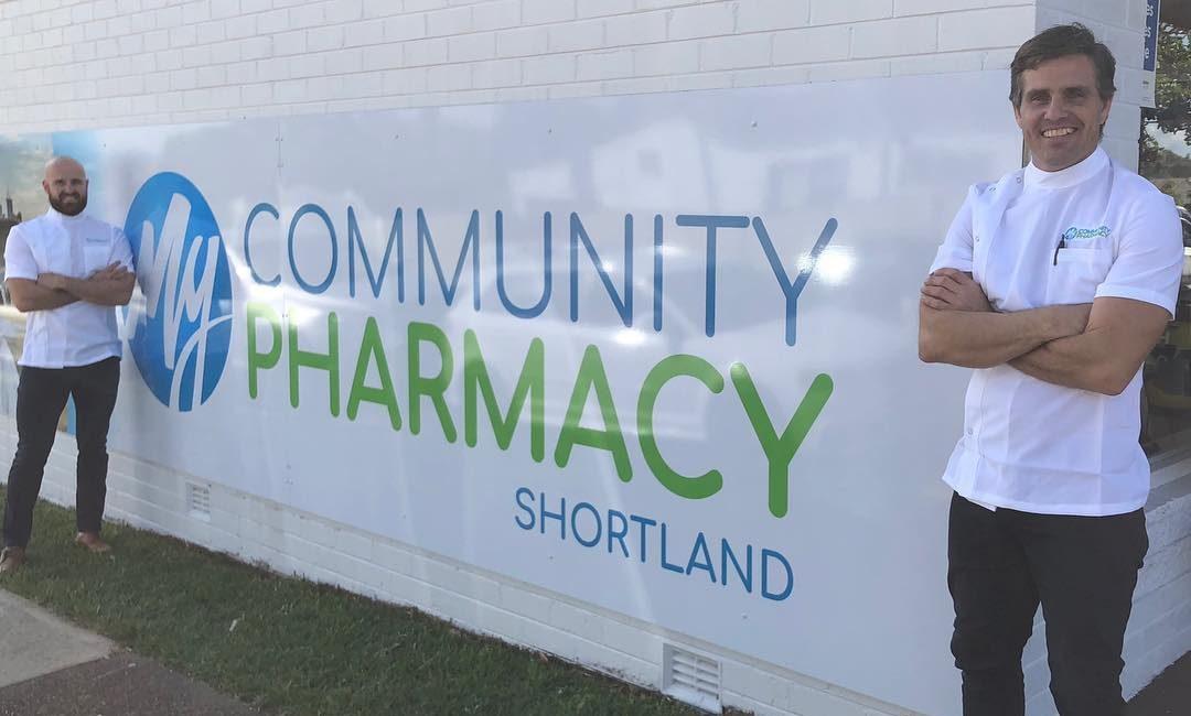Pharmacists and co-proprietors Luke McGrath (left) and John Jones (right).