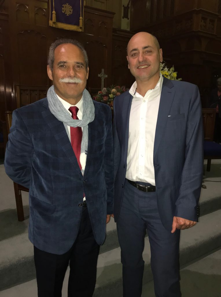 Dr Manuel Cardoso and Angelo Pricolo.