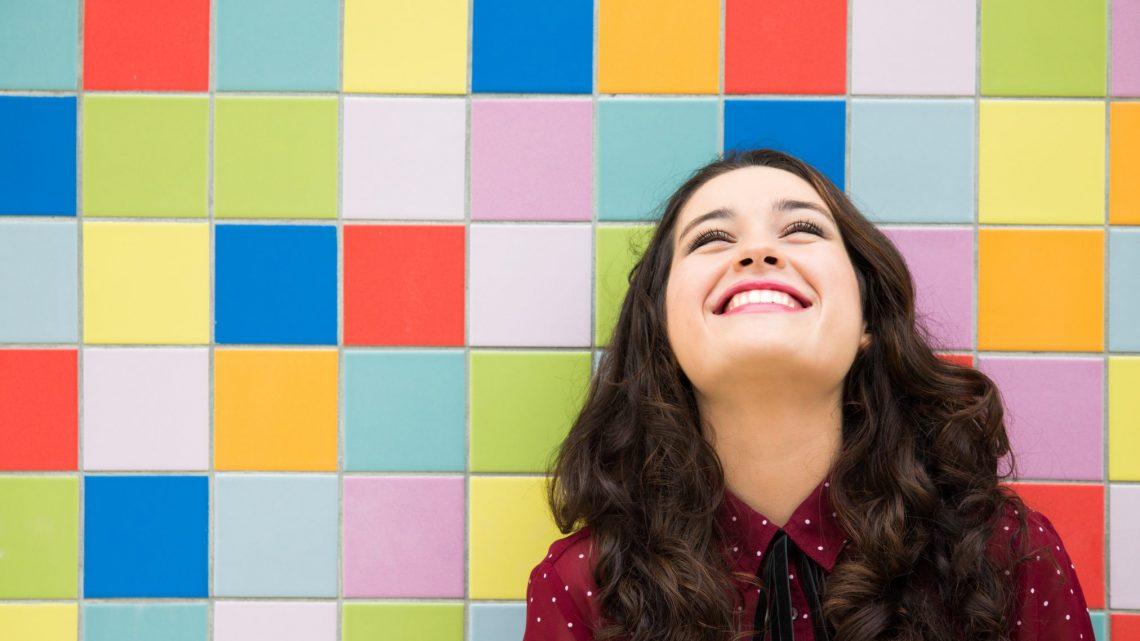 happy girl optimistic