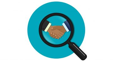 business deal investigation investigate magnifying glass review