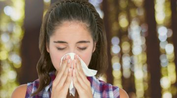 hayfever allergic rhinitis sneezing blowing nose