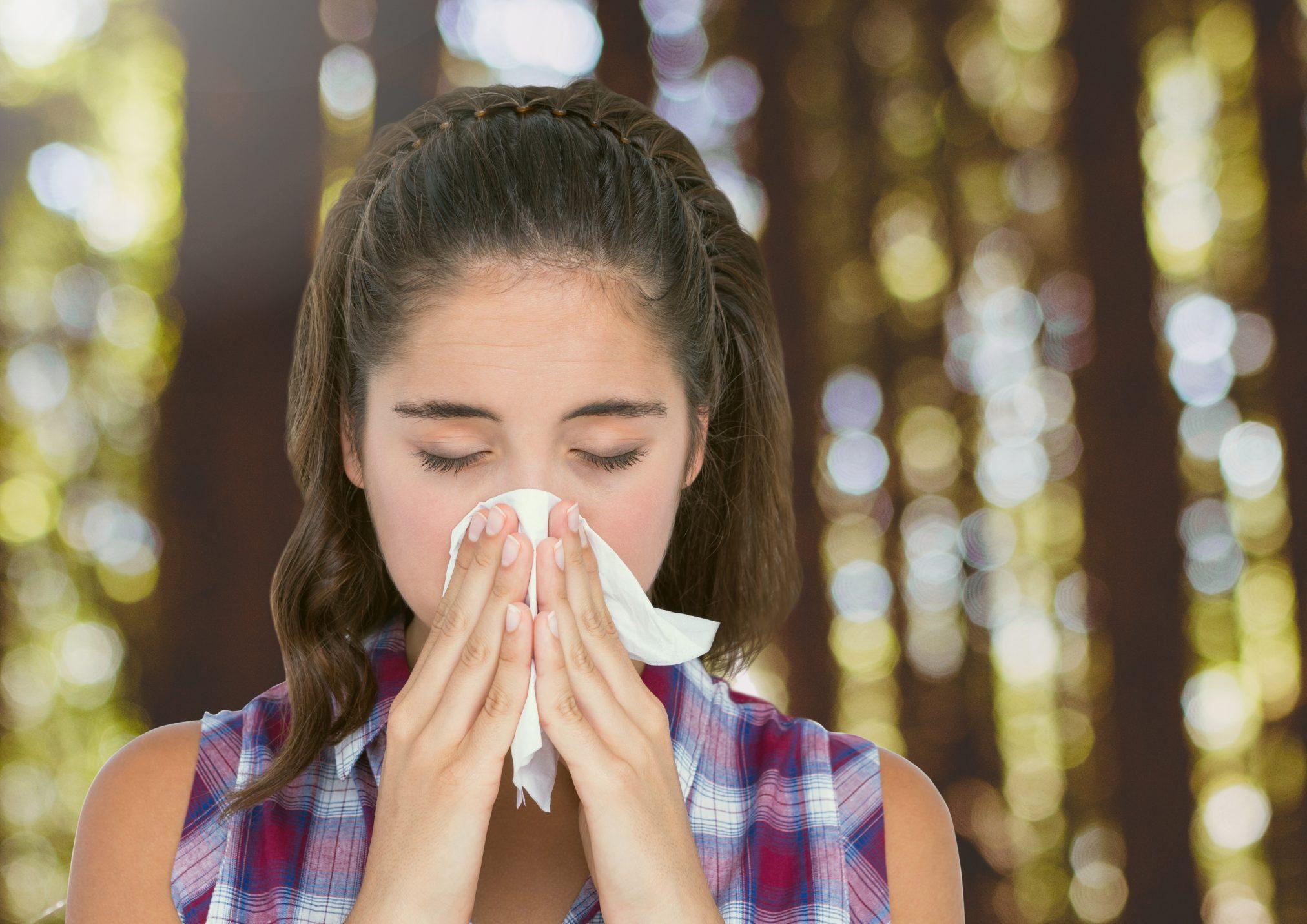 hayfever allergic rhinitis sneezing blowing nose