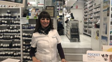 Adele Tahan at her pharmacy. Photo credit: AJP