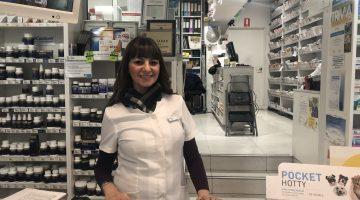 Adele Tahan at her pharmacy. Photo credit: AJP