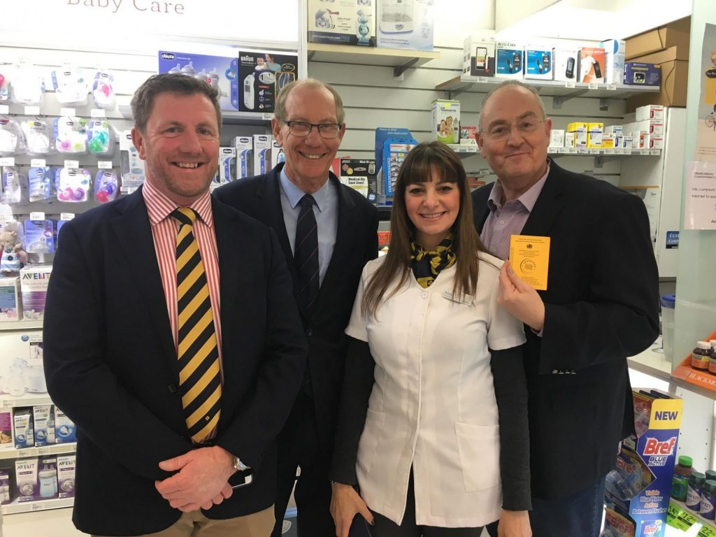 NSW Guild President David Heffernan, NSW PSA President Peter Carroll, NSW Guild committee member Adele Tahan and and Shadow Health Minister Walt Secord.