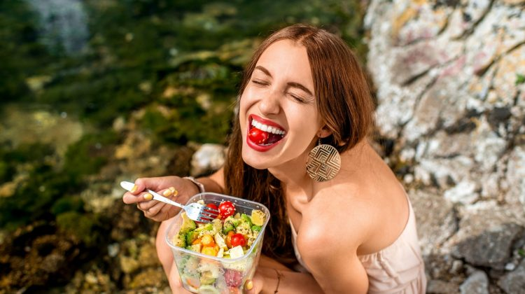 healthy eating diet vegetables young woman lifestyle women food