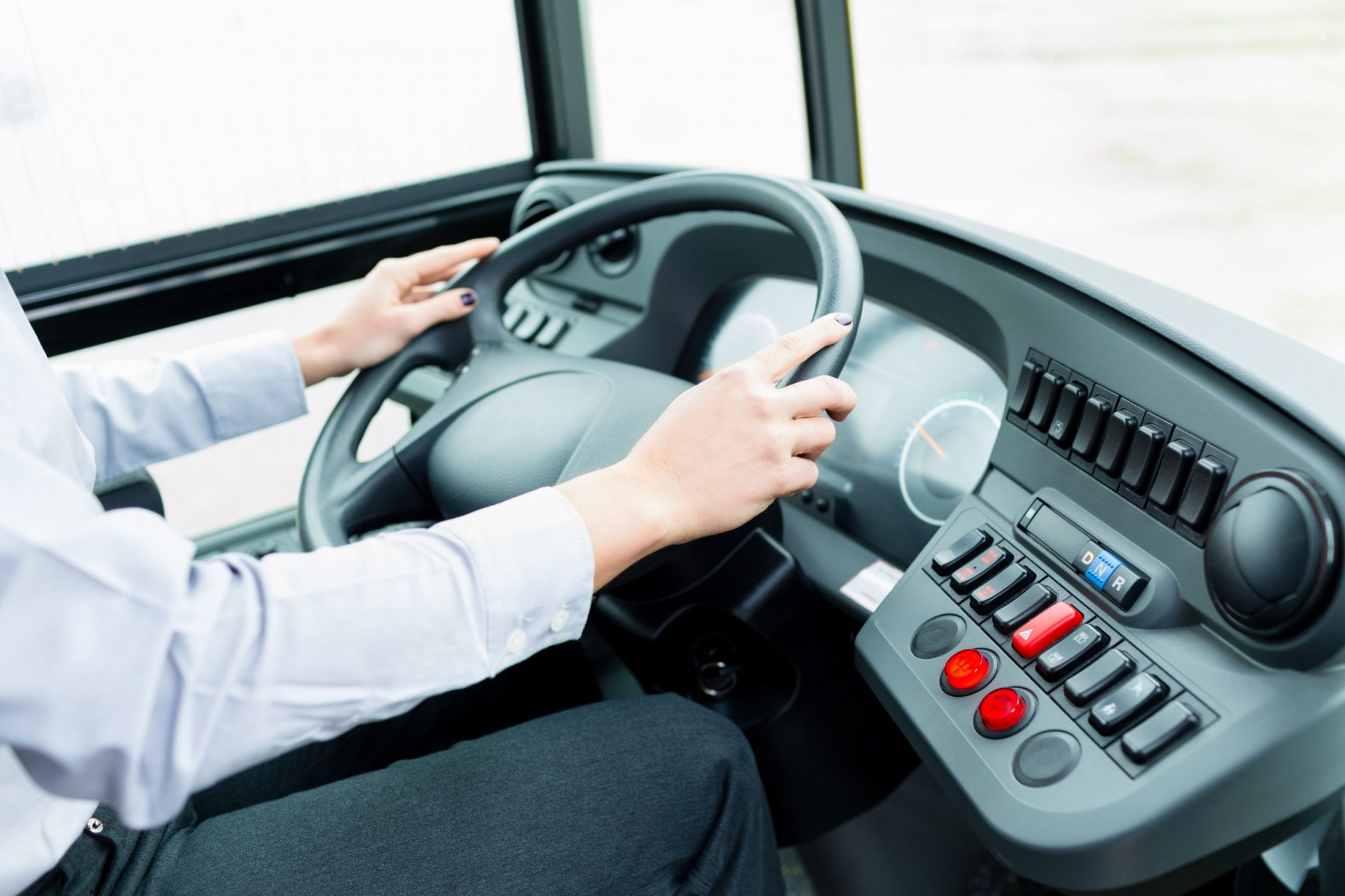 bus driver driving