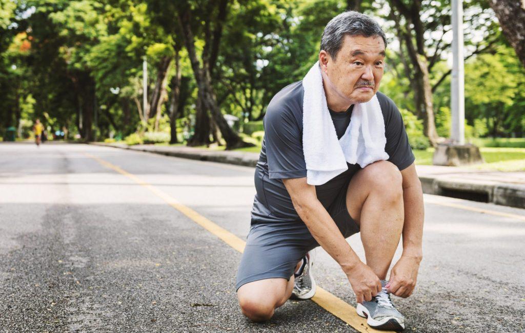 older man exercise running fitness