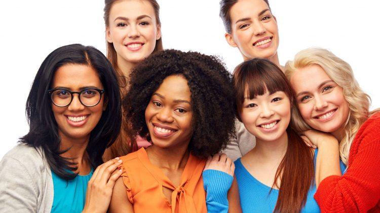mixed group women