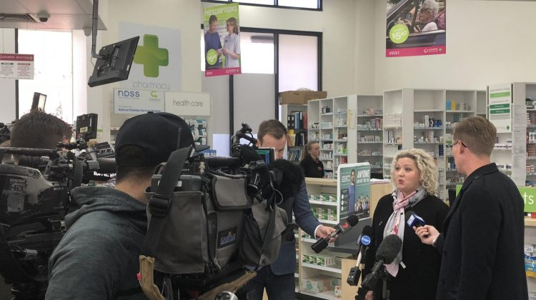 Jill Hennessy announces the expanded vaccination program. Image: Anthony Tassone via LinkedIn