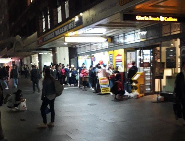 Chemist Warehouse George Street, Sydney. Image: Reddit.