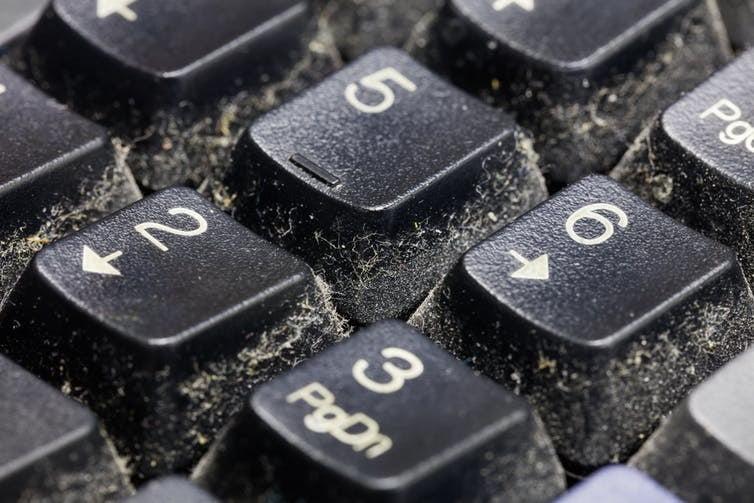 dirty keyboard