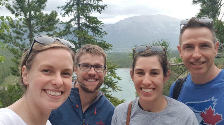 Elise Apolloni, Dean Apolloni, Kayla Lee and pharmacist Jason from Calgary.