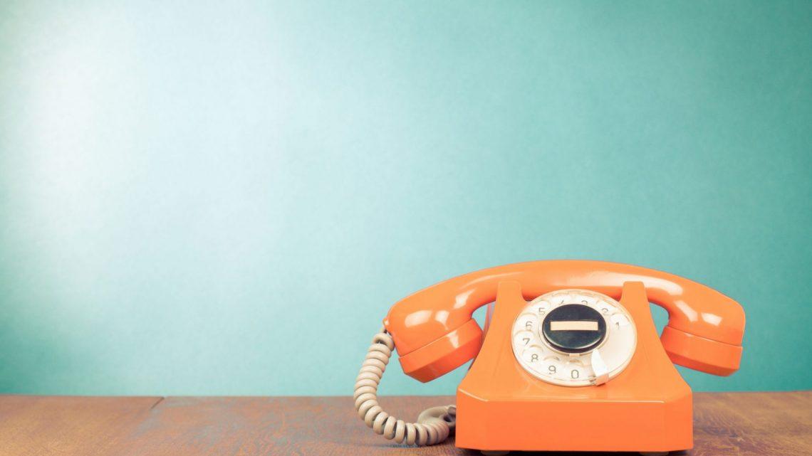 orange retro phone