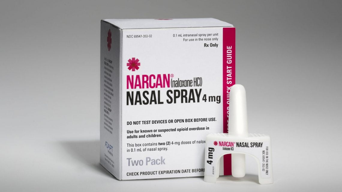 Narcan nasal spray. Credit: VCU CNS/Flickr. https://www.flickr.com/photos/vcucns/
