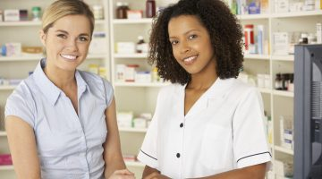 women pharmacists black white