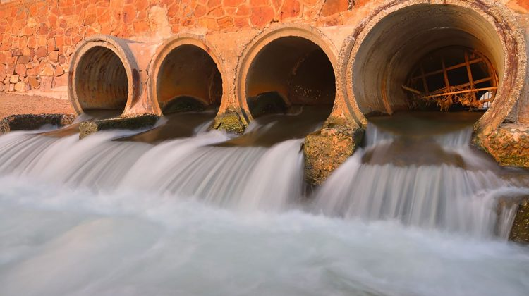 sewage pipes water