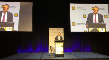 Senator Richard Di Natale addresses the 2018 Pharmacy Guild Parliamentary Dinner.