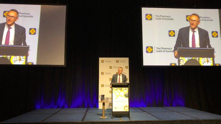 Senator Richard Di Natale addresses the 2018 Pharmacy Guild Parliamentary Dinner.