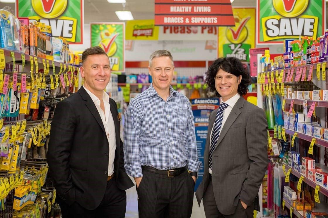 (l-r) Steven Kastrinakis, Michael Gray and John Kardis, Directors, Chemist Discount Centre