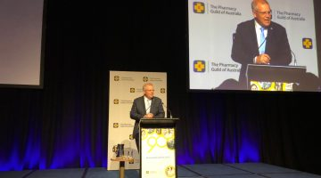 Scott Morrison addresses the 2018 Guild Parliamentary Dinner.