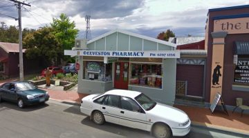 The Geeveston Pharmacy. Image courtesy Google Maps.