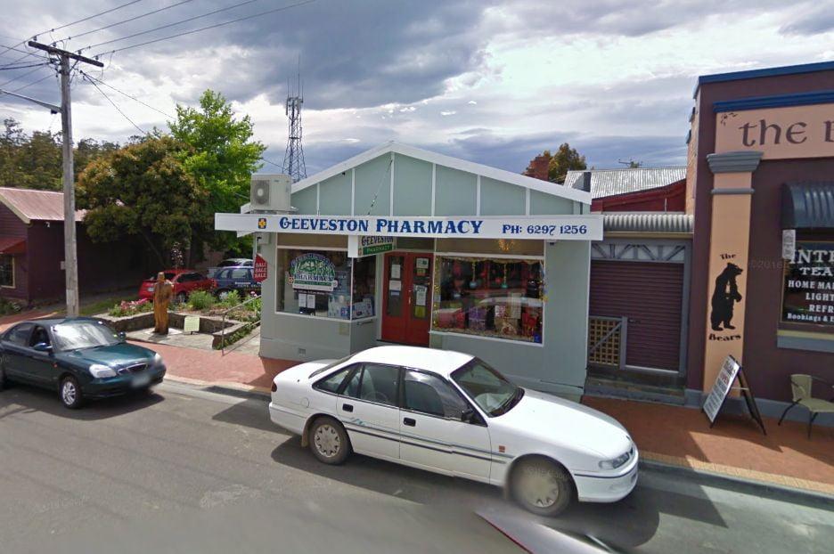 The Geeveston Pharmacy. Image courtesy Google Maps.