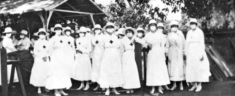 Women were at the forefront of managing the influenza pandemic. AUSTRALIAN WAR MEMORIAL