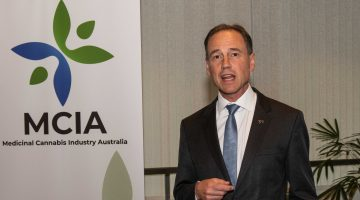 Greg Hunt speaks at the launch of the Medicinal Cannabis Industry Australia body