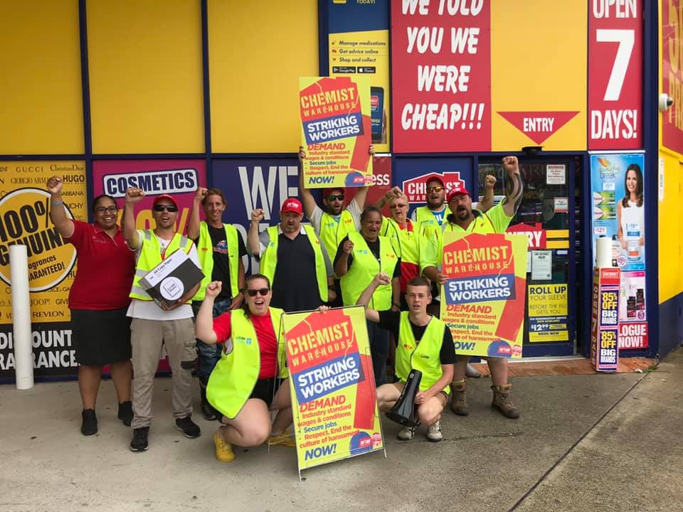 Striking Chemist Warehouse workers