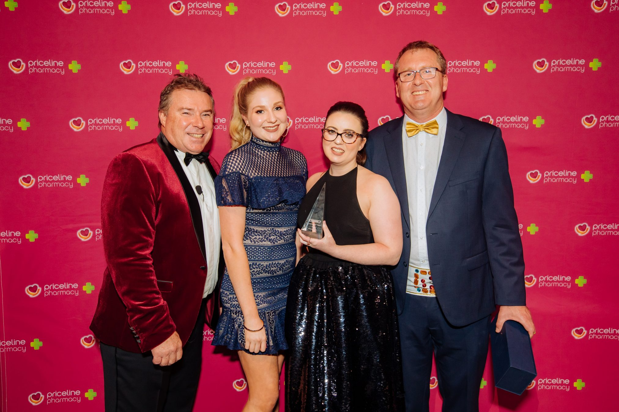 (L-R:) API CEO & MD Richard Vincent and Store of the Year team Chloe McDonald, Cobie McQueen, Stuart Hall