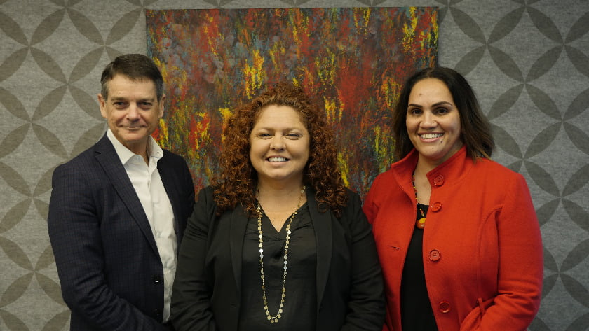 Martin Fletcher, CEO AHPRA, Ms Jodie Sizer, Co-CEO PwC Indigenous Consulting, and Prof Roianne West, First Peoples Health at Griffith University.