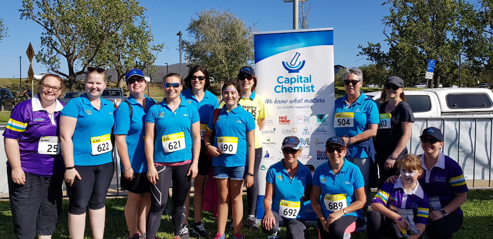 • Memory Walk and Jog: Dementia Australia with staff from Capital Chemist Kambah, Southlands and Kingston.