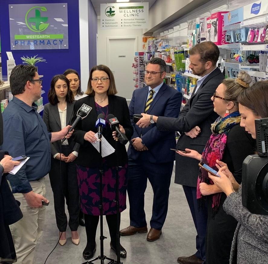 anthony tassone and jenny mikakos among others at westgarth pharmacy
