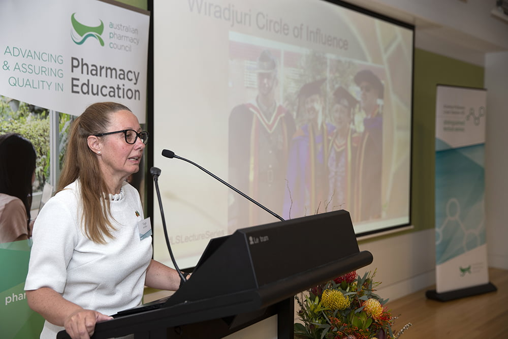 A/Prof Faye McMillan presents her lecture.