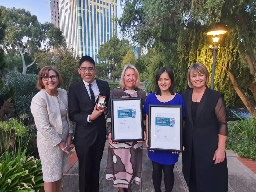 SA/NT President PSA, Robyn Johns, Raymond Truong, Gold Medal, Shelley Forester, Pharmacist of the Year, Dr Renly Lim, ECP of the Year, Helen Stone, State & Territory Manager SA/NT PSA
