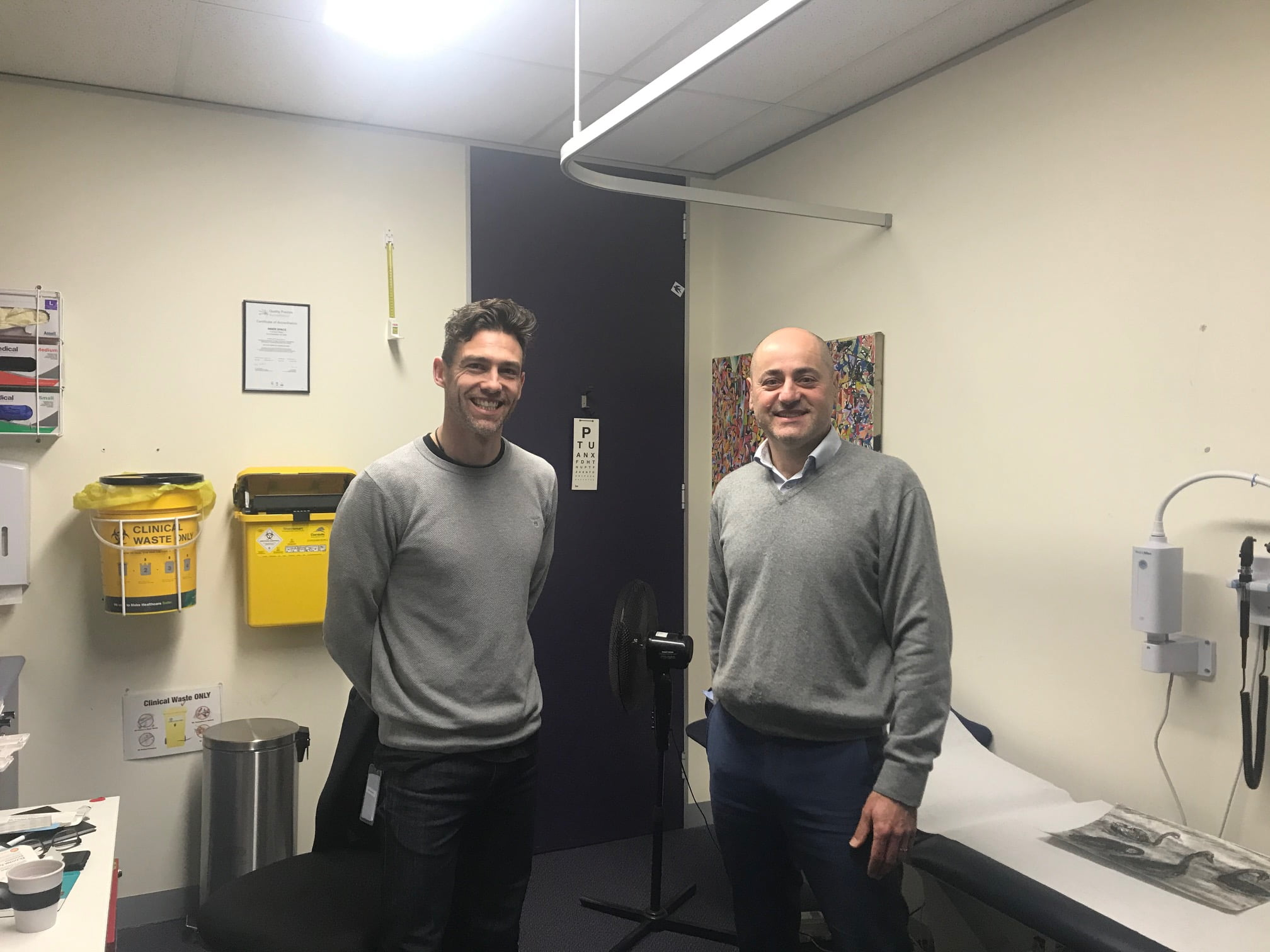 Angelo Pricolo and Dr Dean Membrey at Inner Space Cohealth in Melbourne