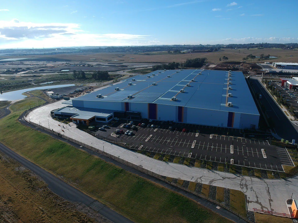 New Distribution Centre at Kemps Creek. aerial shot