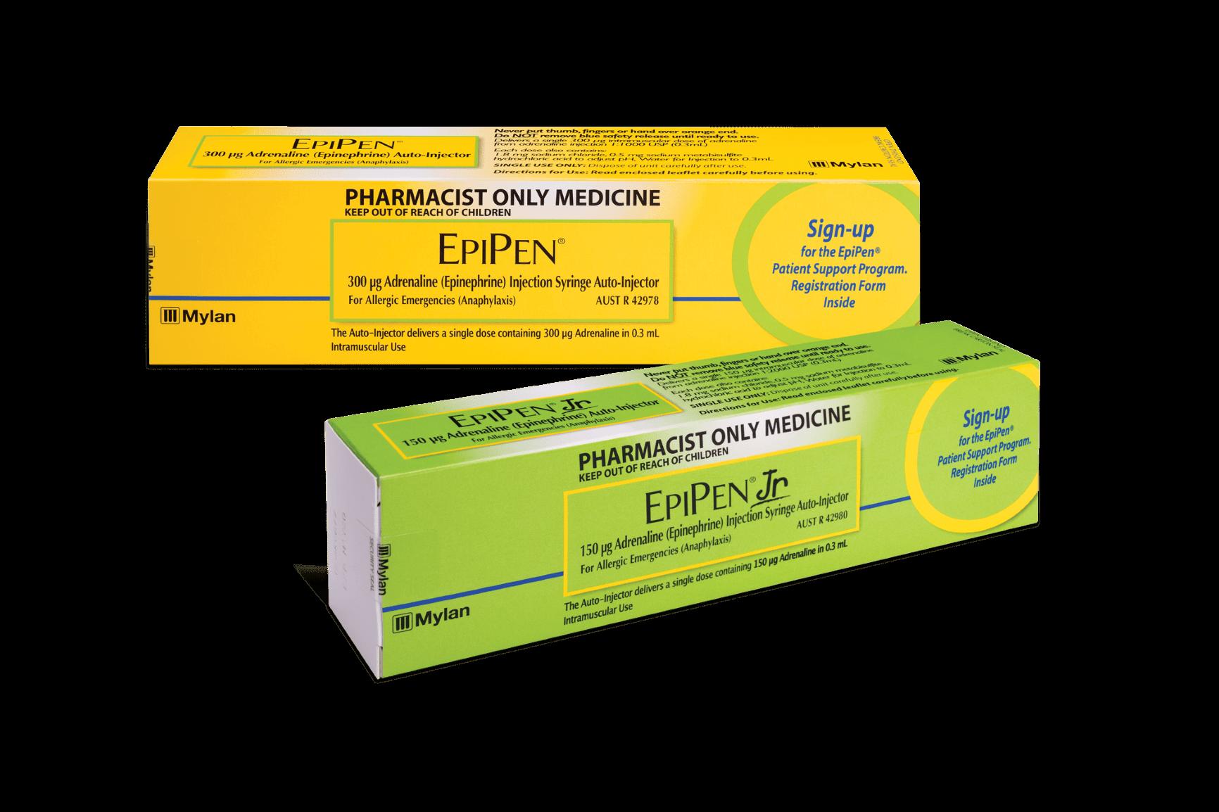 EpiPen and EpiPen Junior. Image courtesy Viatris.