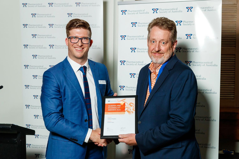 Gilbert Yeates receives the Gold Medal - lifetime award 2020
