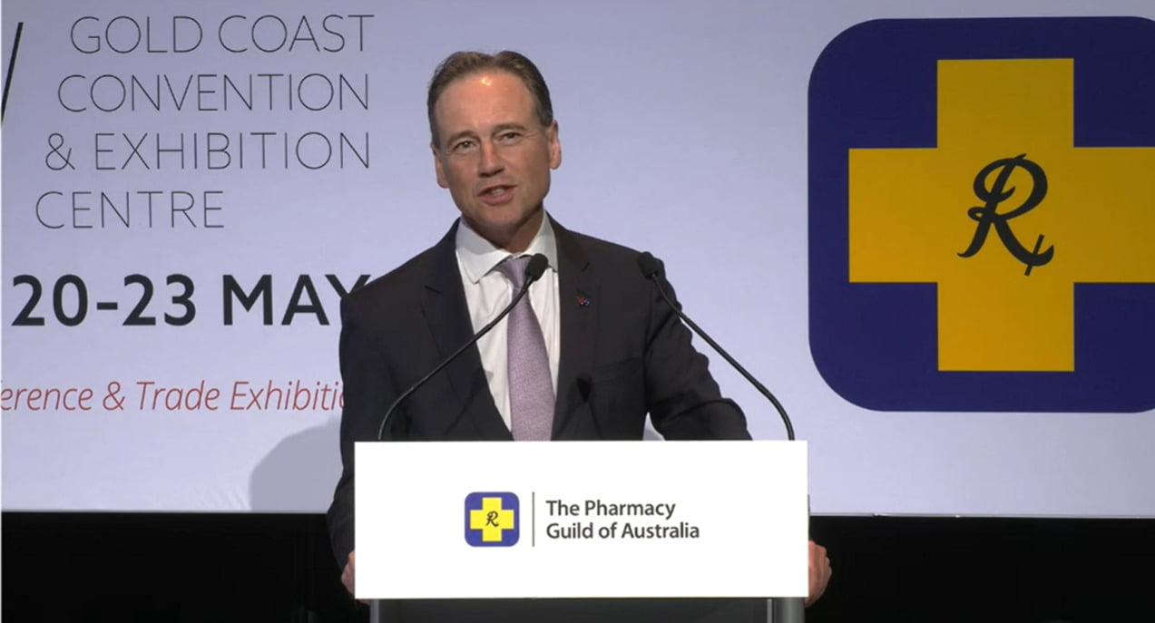 Health Minister Greg Hunt speaks at the APP2021 opening plenary
