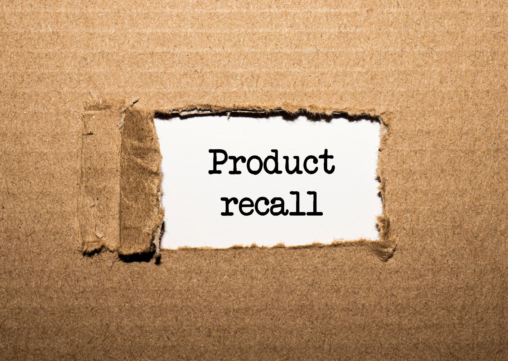 """page that reads """"product recall"""""""