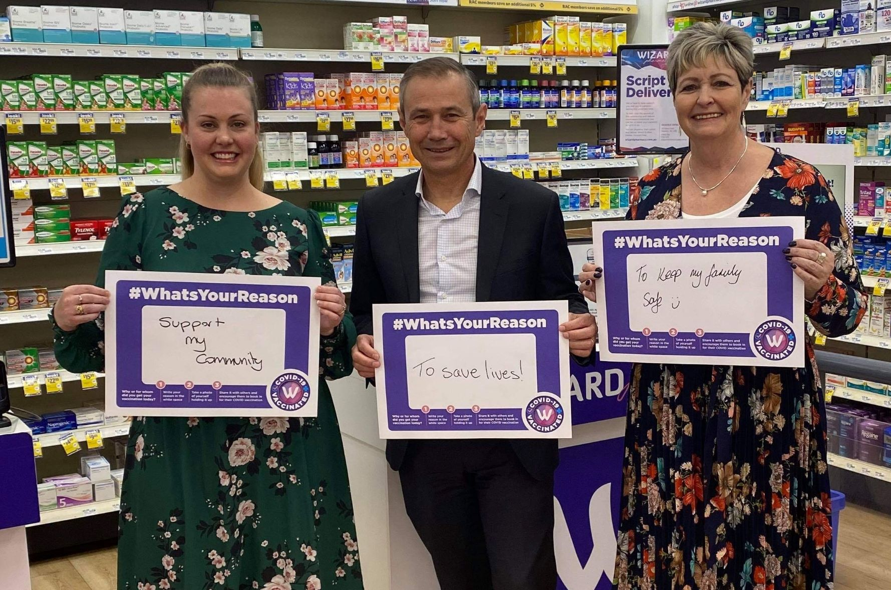 (from left to right) Wizard Kalgoorlie owner Elise Wheadon with The Hon. Roger Cook MLA and Ms Ali Kent MLA